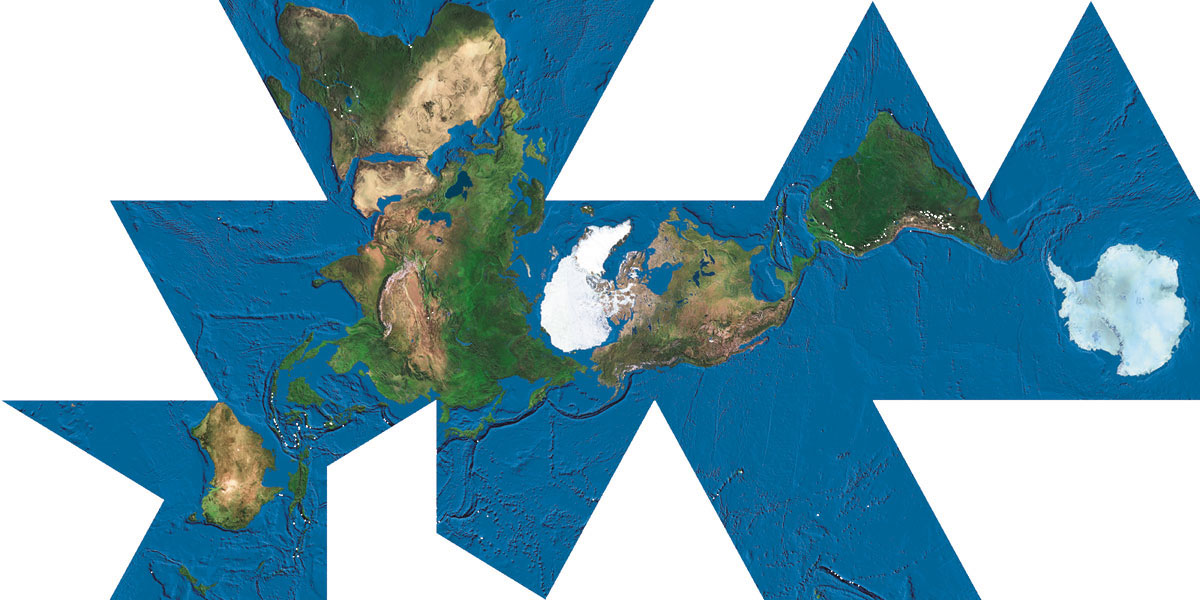 Buckminster fullers dymaxion map of the world gumiabroncs Image collections